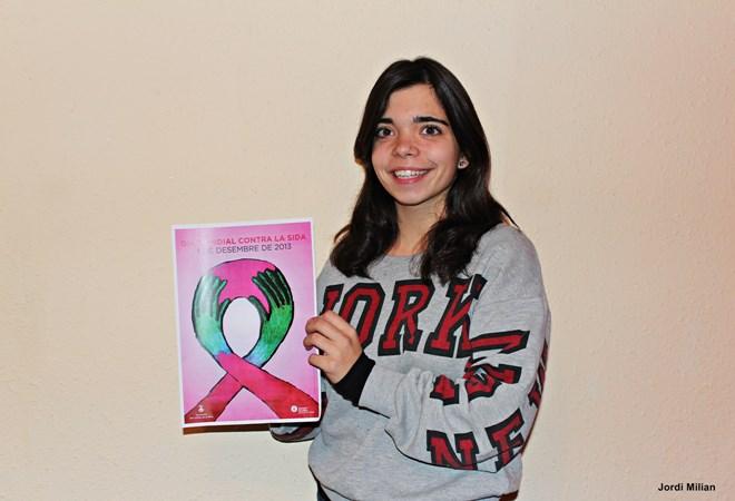 Núria Catalan Guanyadora del Cartell Dia Mundial Contra la SIDA 2013