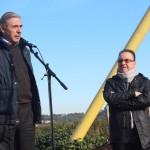 Monòlit democràcia i llibertat Enric Llorca i Luis Felipe