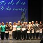 Dia de les dones 2014 10 Lliurament diplomes informàtica