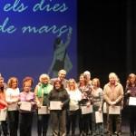 Dia de les dones 2014 12 Lliurament diplomes informàtica