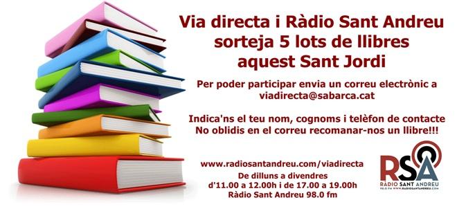 Banner sorteig llibres VIA DIRECTA