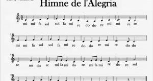 Himne alegria notes