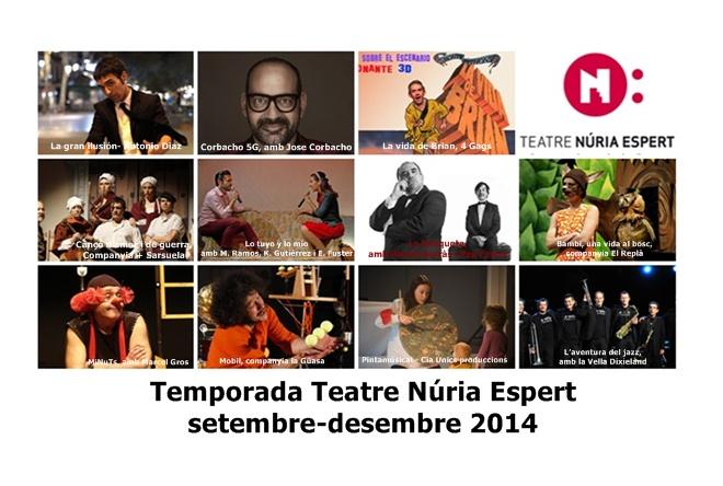 TEMPORADA TEATRE NURIA ESPERT SET-DES 2014