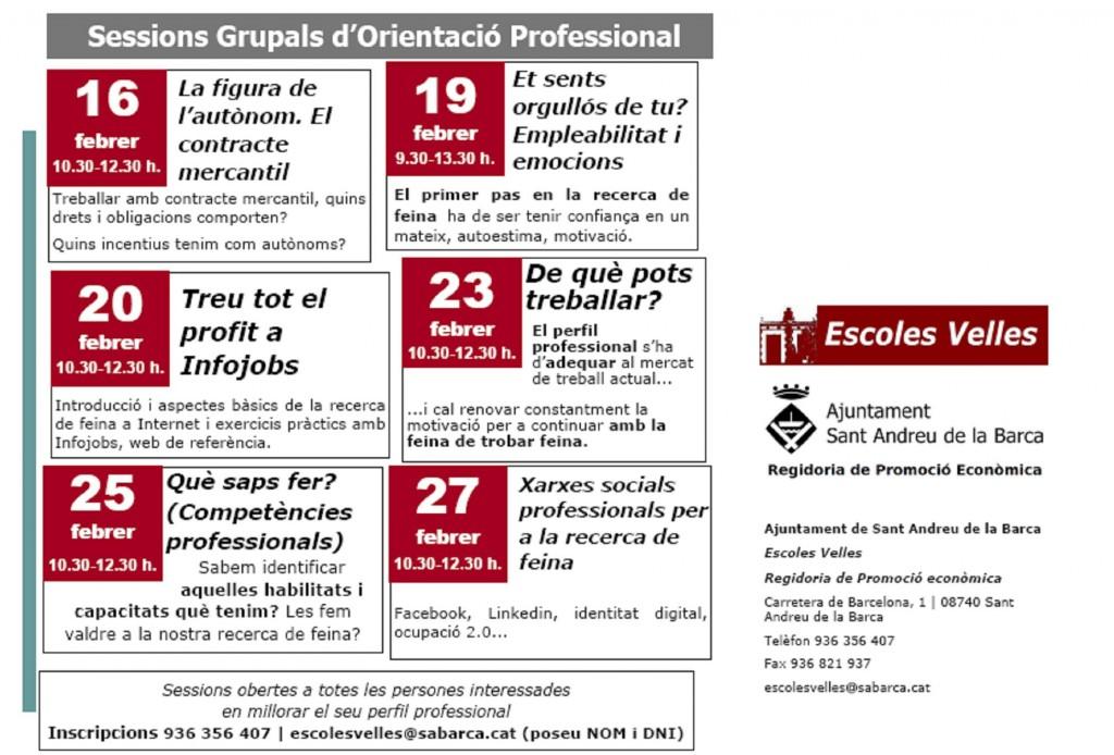sessions grupals orientació professional Escoles Velles