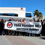 Manifestació contra el feixisme i el racisme a Sant Andreu de la Barca  01