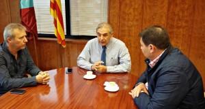L'alcalde d'Espera a Càdis, Pedro Romero visita Sant Andreu de la Barca