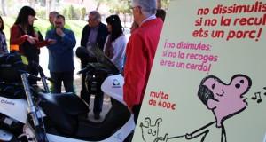 CAMPANYA CONTRA EXCREMENTS GOSSOS AL CARRER