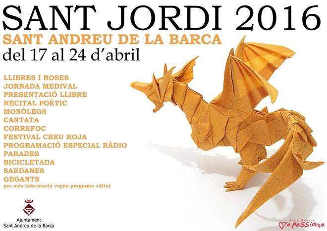 Cartell Sant Jordi 2016