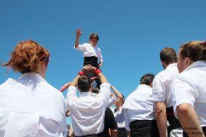 Actuació Colla castellera de l'Adroc  02