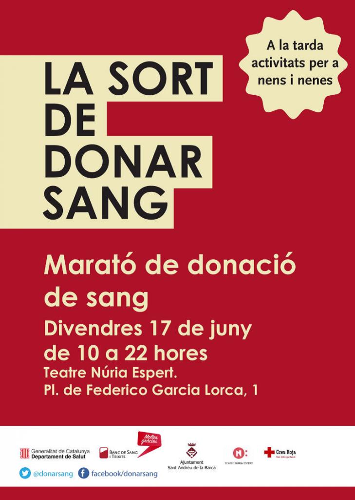cartell marato donacio de sang