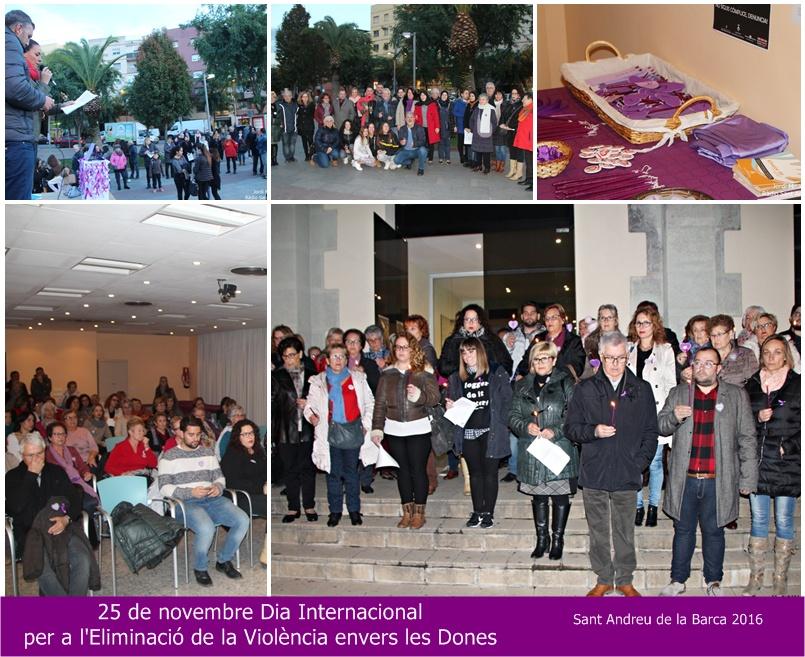 Dia Internacional Eliminació Violència envers les Dones SAB collage