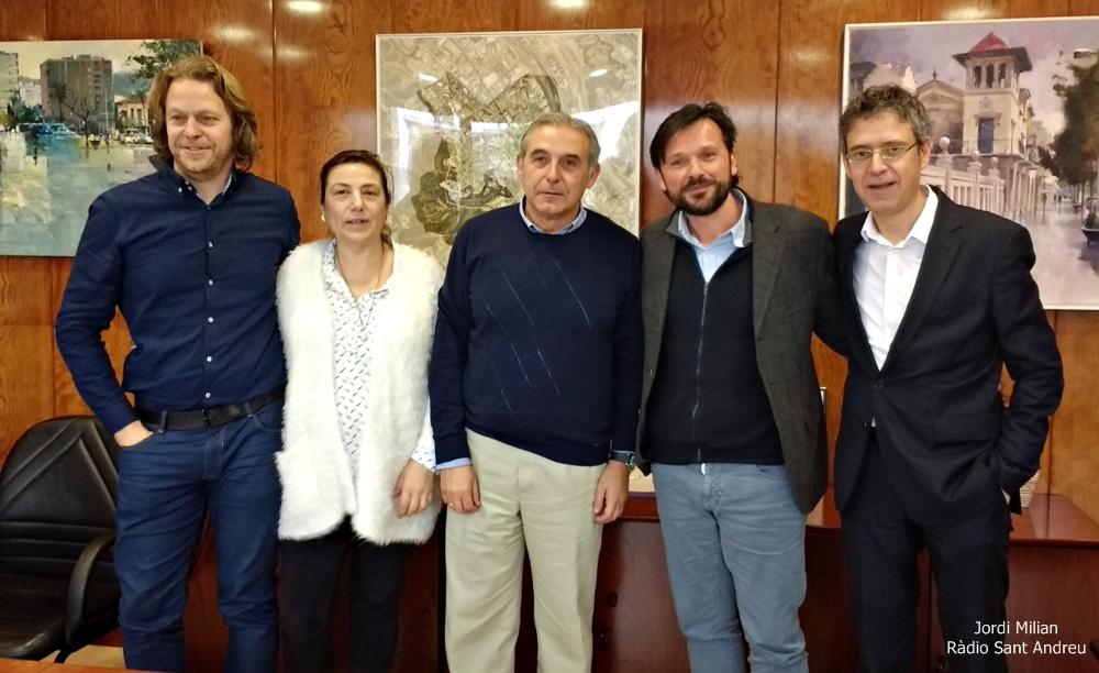 Signatura conveni Ajuntament Sant Andreu Barca i Fundació Futur