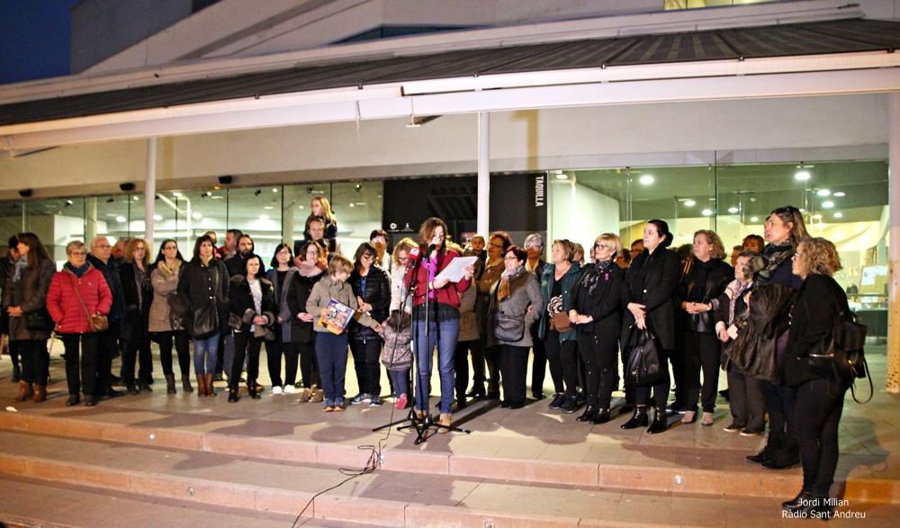 Lectura manifest institucional Dia Internacional de els Dones - Sant Andreu de la Barca
