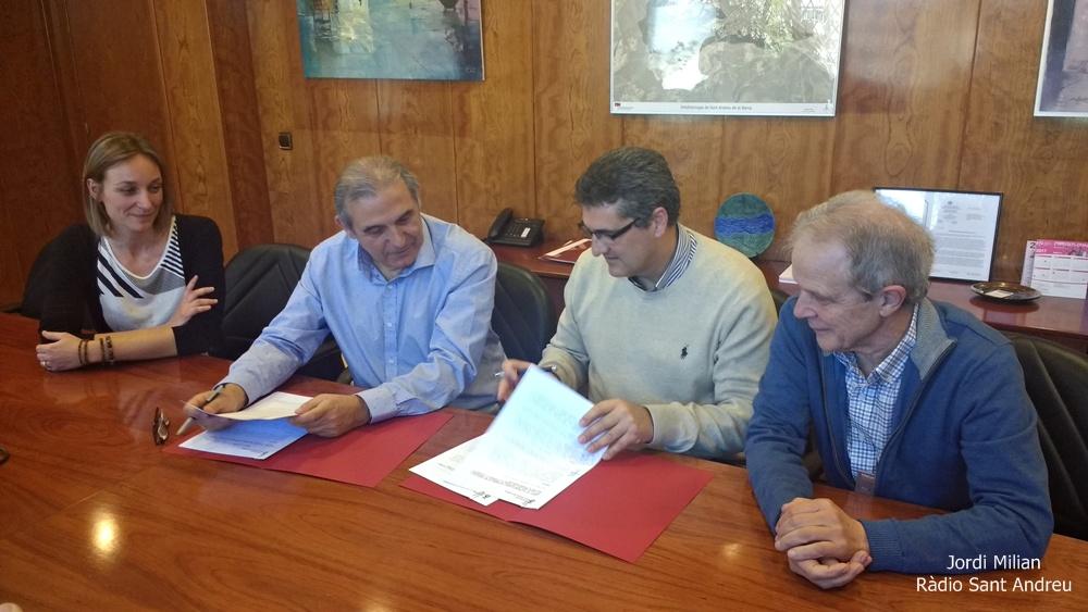 Signatura conveni Creu Roja Ajuntament SAB 02