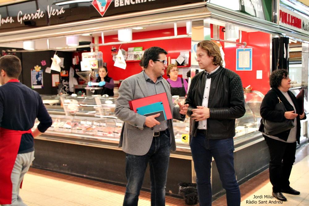 Visita delegat comerç Issac Albert a Sant Andreu de la Barca