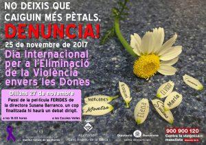 Cartell acte contra la violència masclista