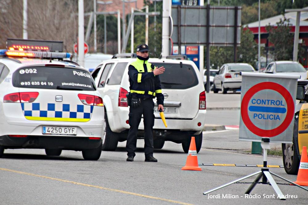 Control alcoholèmia Policia Local Sant Andreu de la Barca