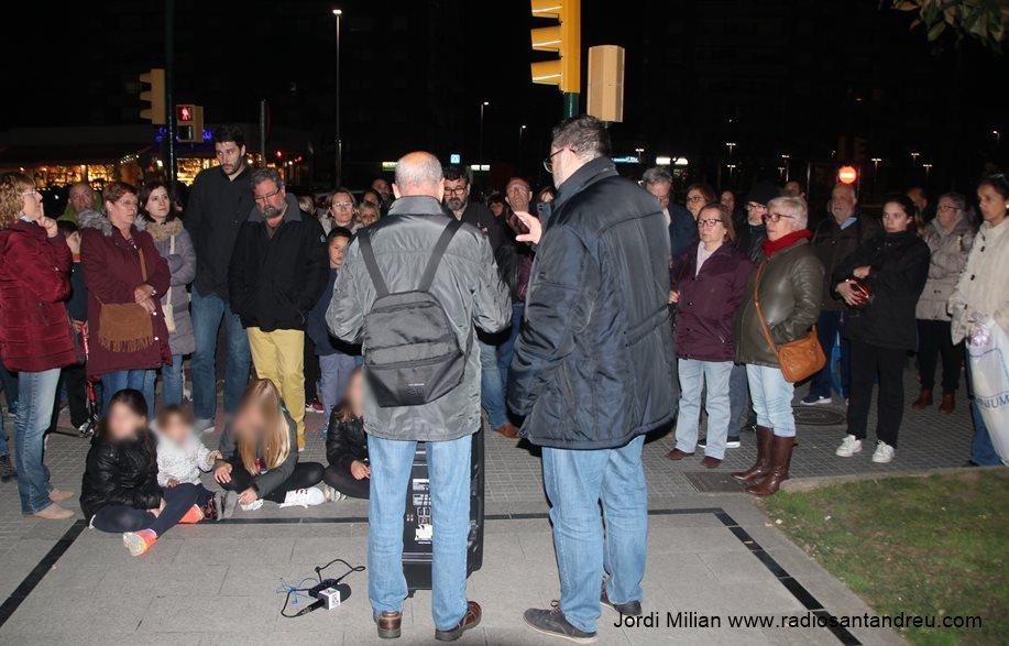 Concentració contra empresonament polícs catalans 23 març -02