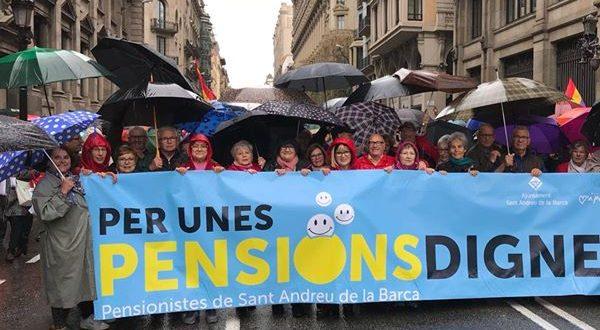 manifetsació BCN pensions