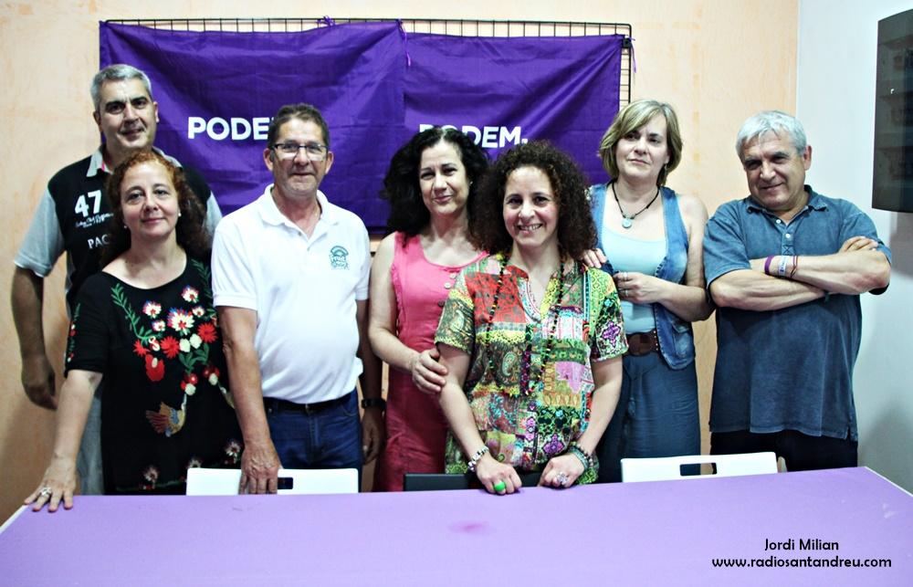 Merche Marcos, Nova secretaria general Podem Sant Andreu 02
