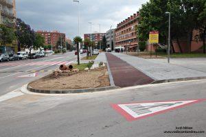 Obres de conversió de la carretera en una rambla urbana  04