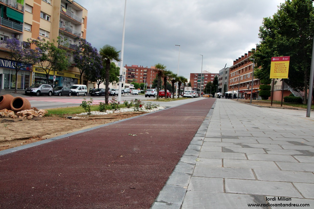 Obres de conversió de la carretera en una rambla urbana  06