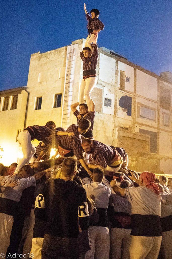Foto cedida per la Colla de Castellers de l'Adroc