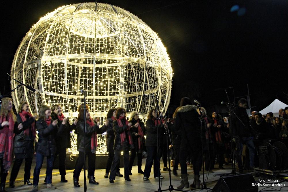Encesa il·luminació nadalenca de Sant Andreu de la Barca 03