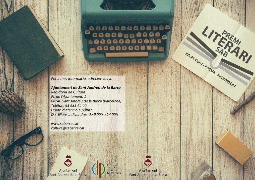 Bases Certamen literari Portada
