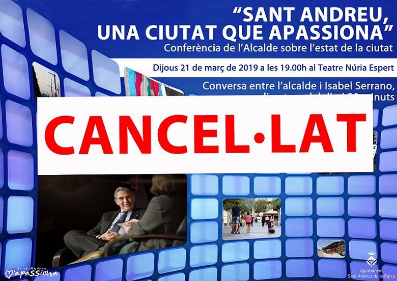 Conferència Alcalde 2019 cancel·lat - copia