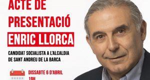 cartel acto presentación pscsab ENRIC LLORCA