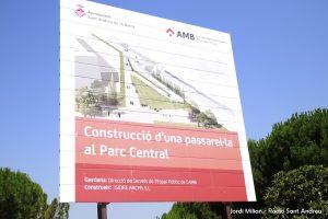 Obres passarel·la carrer Esport -Parc Central 05