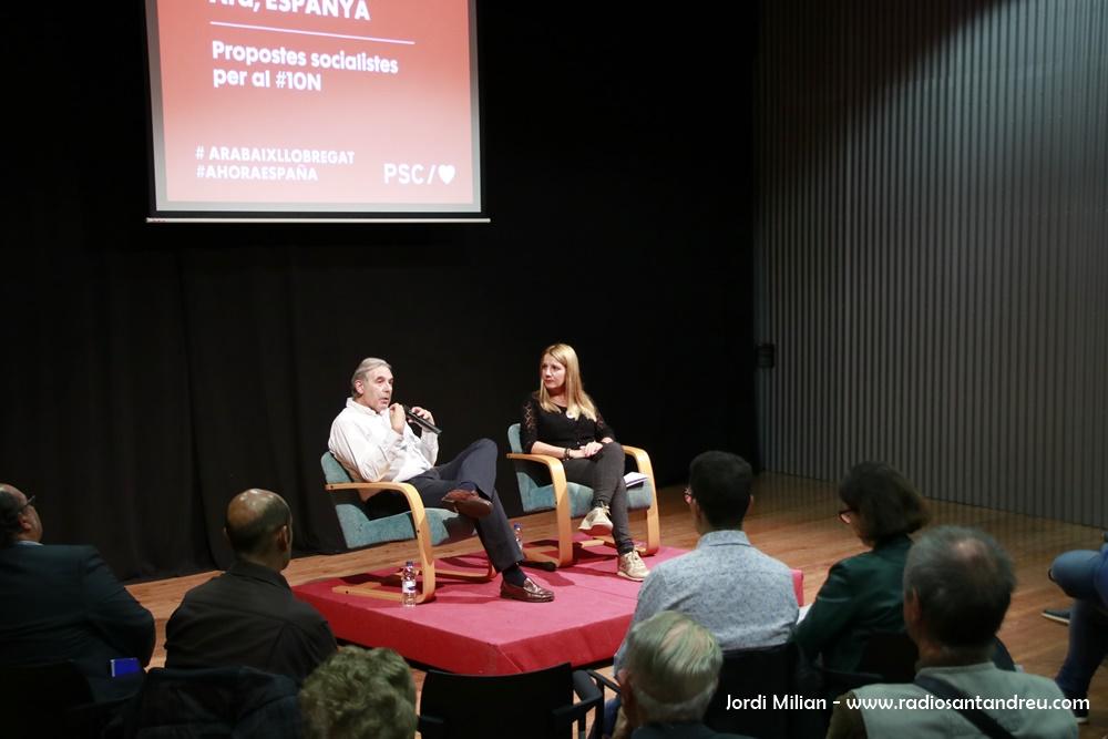 Acte PSC 23 octubre - Sònia Guerra i Enric Llorca 01