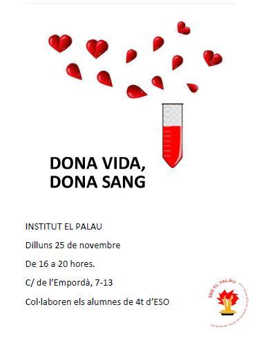 donar sang Ies El Palau