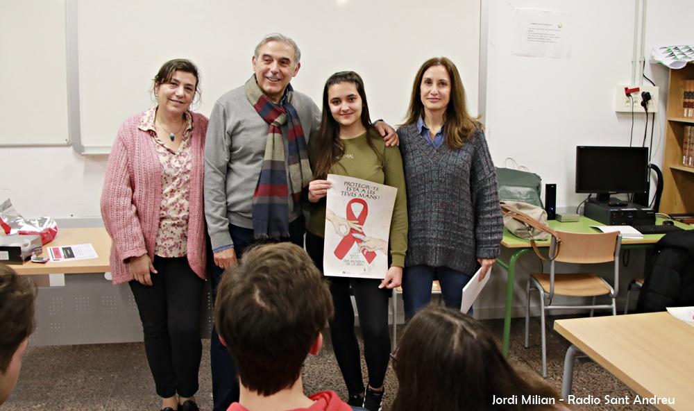 Lliurament premi cartell campanya Sida a Sant Andreu Barca 01