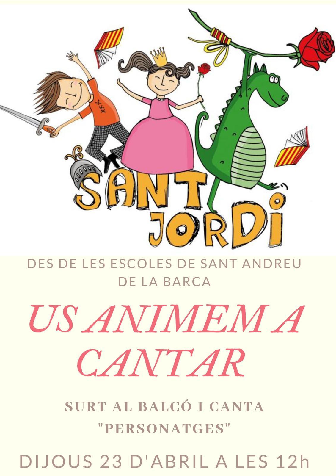 CARTELL ESCOLES SANT JORDI
