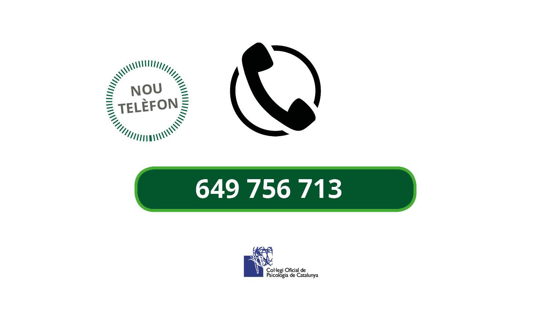 El COPC habilita un telèfon d'assessorament psicològic dirigit a la ciutadania