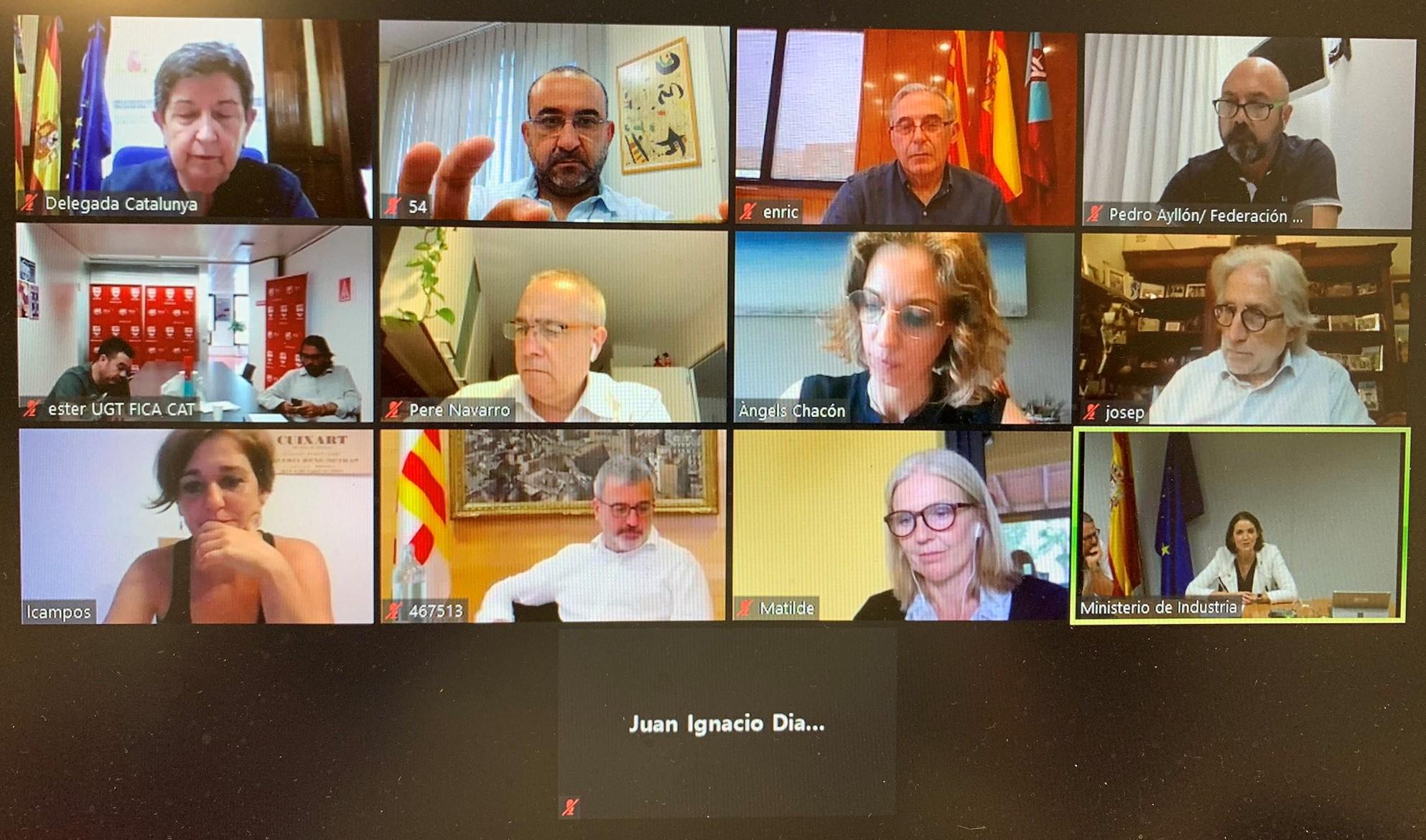 imatge videoconferencia reuniý administracions i agents socials sobre situaciý Nissan 2-6-2020