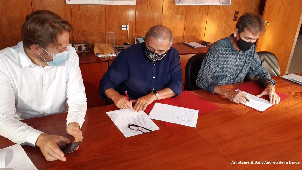 Signatura conveni Ajuntament i ACSSAB