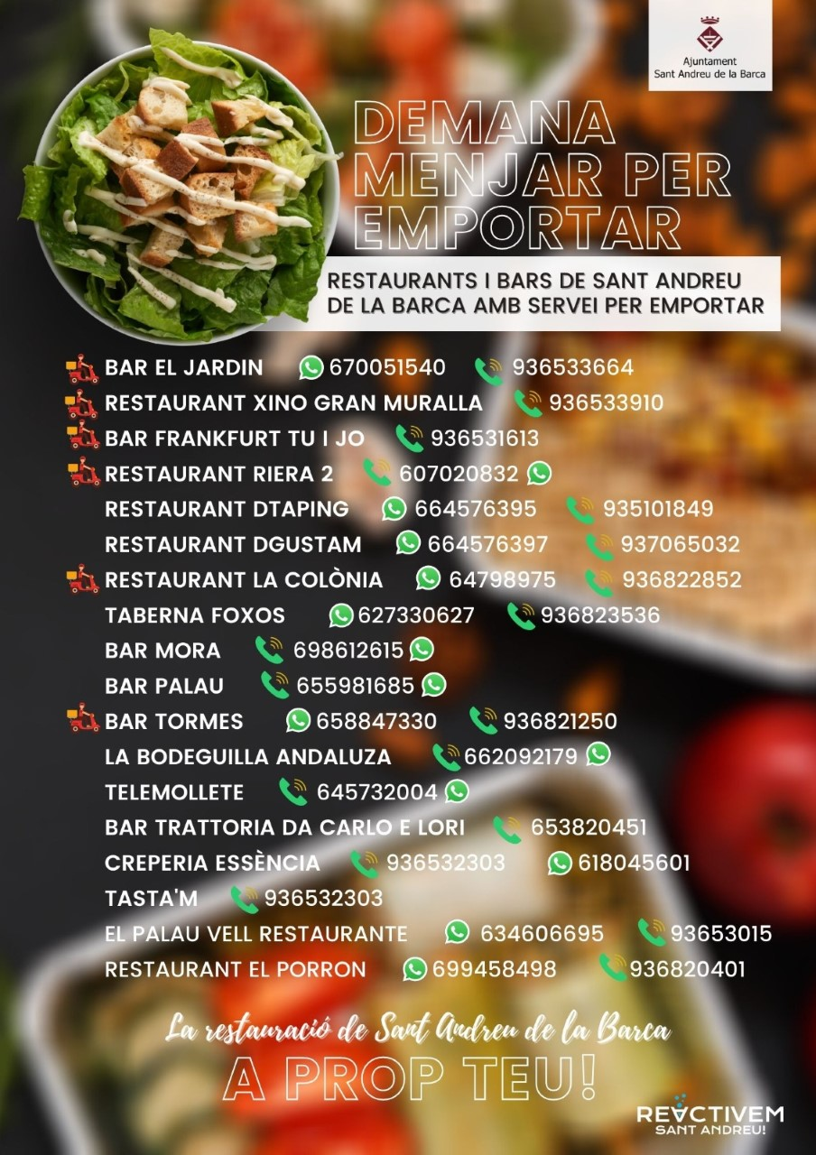 bars i restaurants menjar preparat