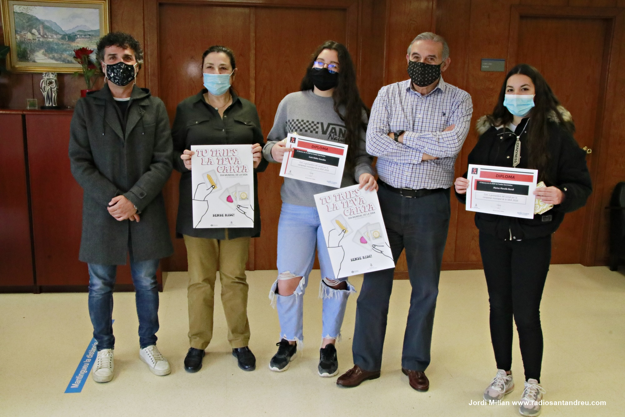 Lliurament premi cartell Dia Mundial Sida