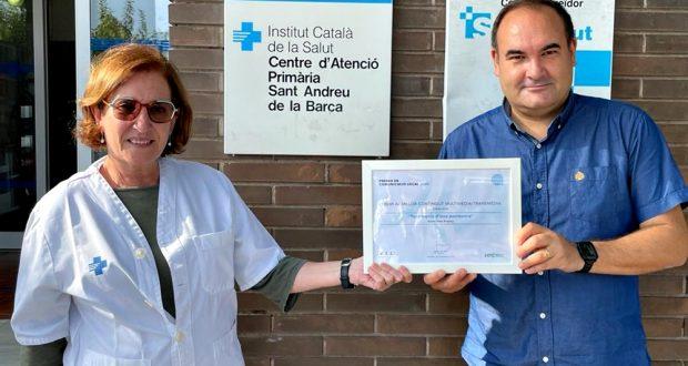 Glòria Jodar (CAP) i Jordi Milian (Ràdio Sant Andreu)
